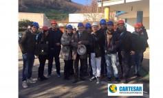"""Venerdì 18 dicembre gli allievi del corso """"Quality Manager""""  all'azienda """"Cartesar S.P.A"""" a Coperchia di Pellezzano (SA)"""